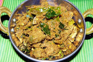 Pachi Mirchi Mamsam Iguru (Green Chilli Mutton Curry) - Andhra Mess Indian Cuisinse