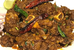 Madurai Mutton Sukka (Goat Dry Fry) - Andhra Mess Indian Cuisinse