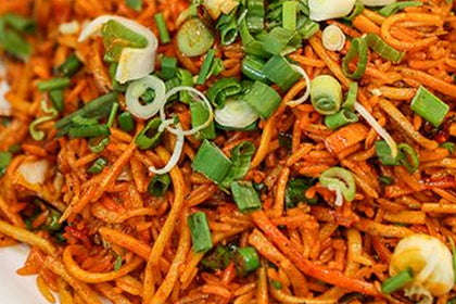 Schezwan Fried Noodles(Egg) - Andhra Mess Indian Cuisinse