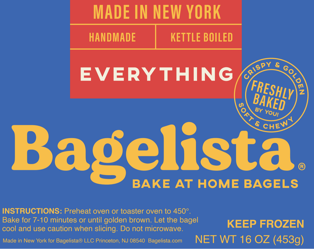 Bake At Home Bagels - Everything