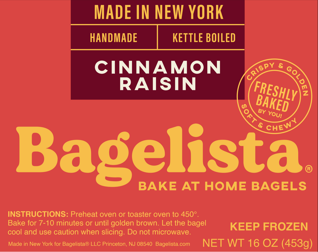 Bake At Home Bagels - Cinnamon Raisin