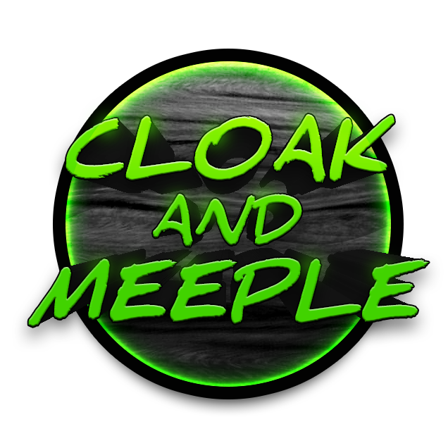 Cloak and Meeple Logo