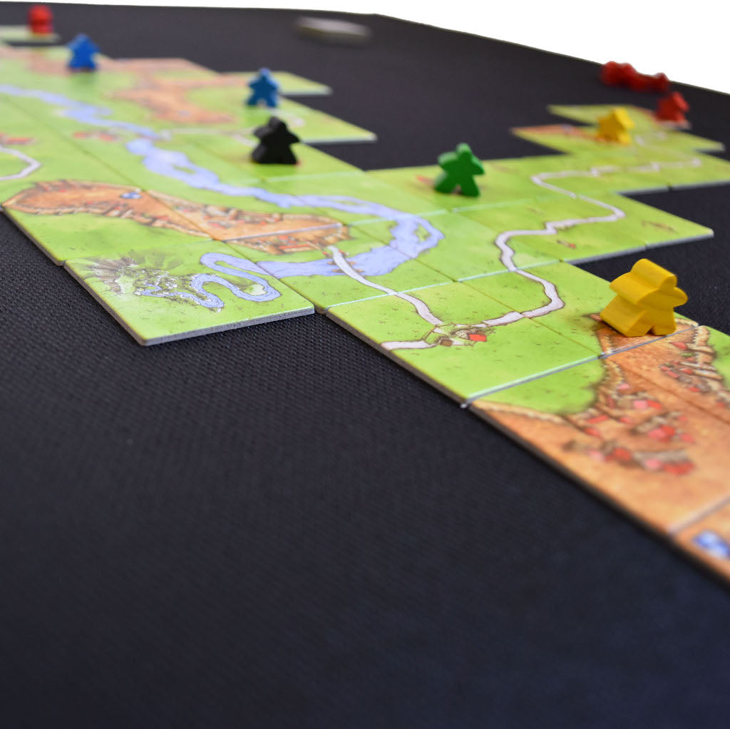 Nonslip rubber board game surface