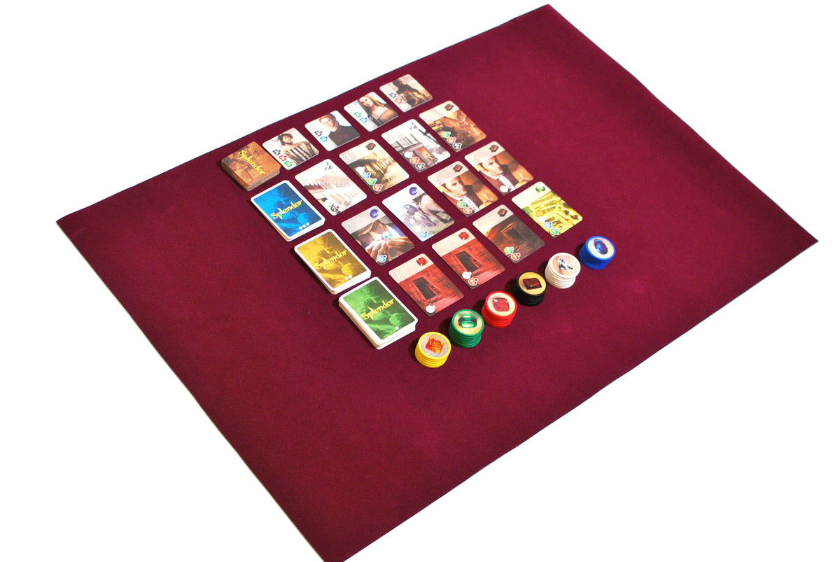 "24"" x 36"" Board Game Mat Felt Splendor Card Game"