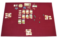 "Load image into Gallery viewer, 36"" x 48"" Board Game Mat Burgundy Felt"