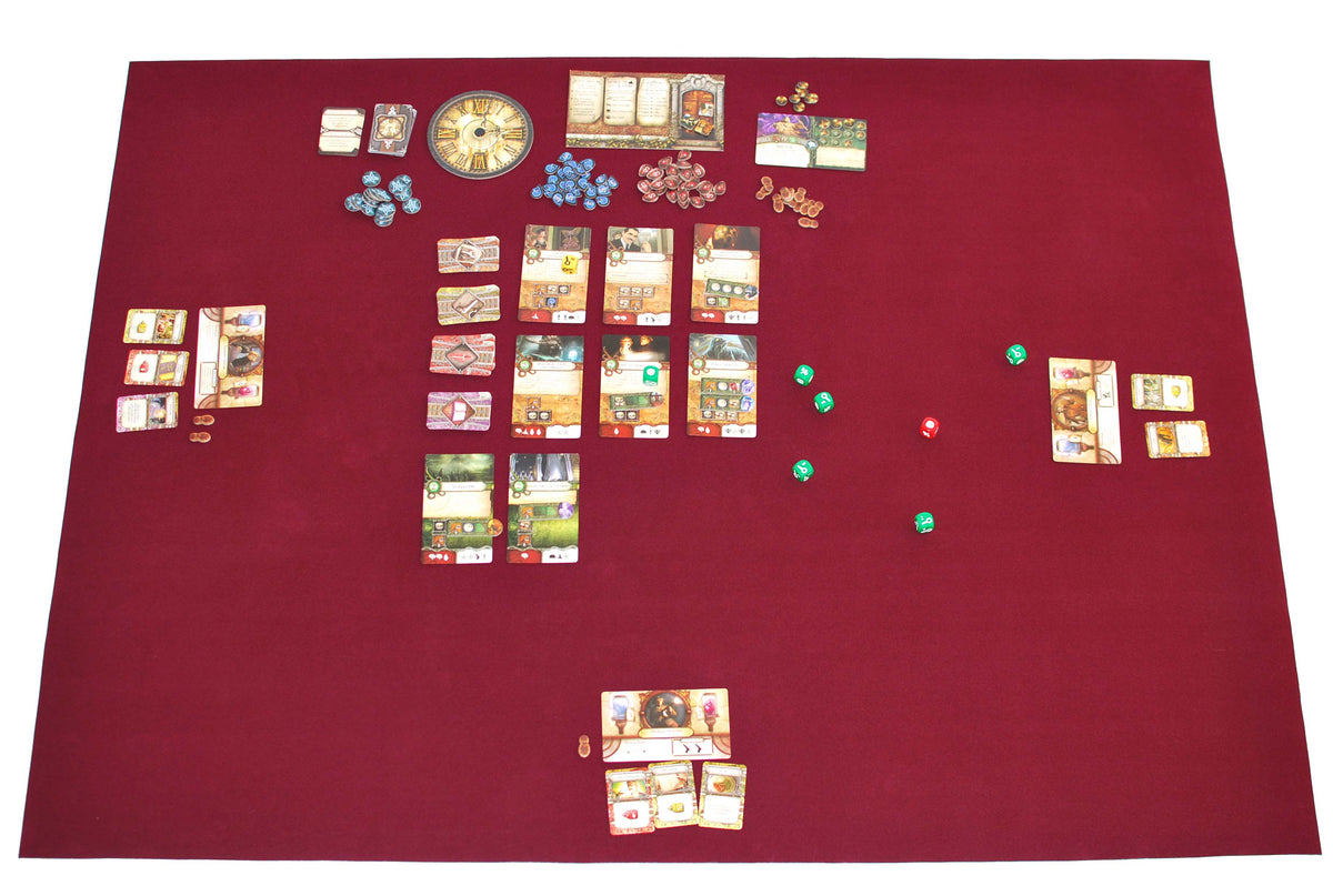 "36"" x 48"" Board Game Mat Burgundy Felt"