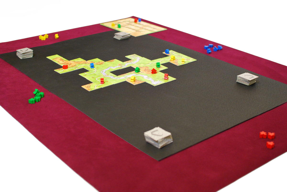 Complete Board Game Mat Set Felt with Nonslip Center  Carcassonne