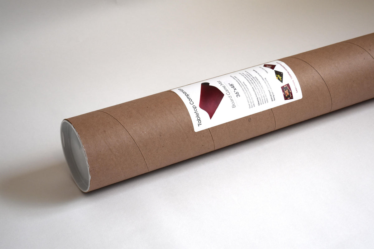 Portable Cardboard Storage Tube for Board Game Mat Set