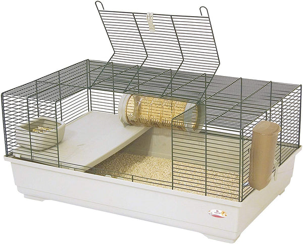 REFURBISHED - Marchioro Goran 82 Cage for Small Animals, 32.25 in, Beige/Green
