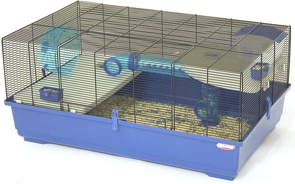 REFURBISHED - Marchioro Kevin 82 Cage for Small Animals 32.25 inches, Blue/Black