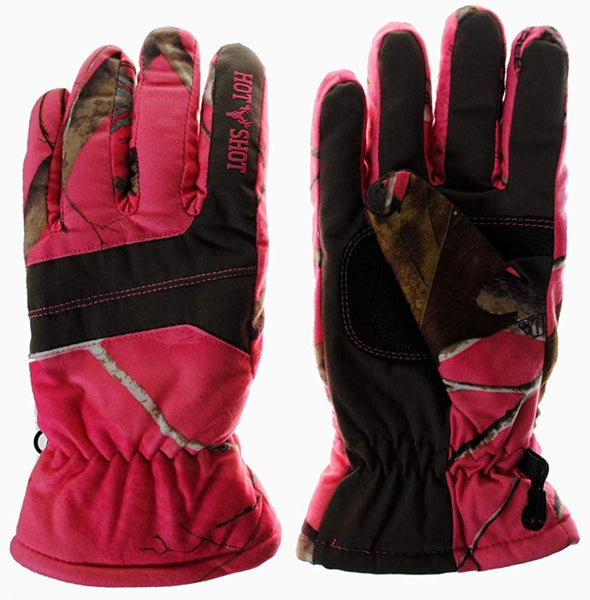 Realtree APC HOT SHOT Women's Camo Outdooor Hunting Defender Glove - Pink