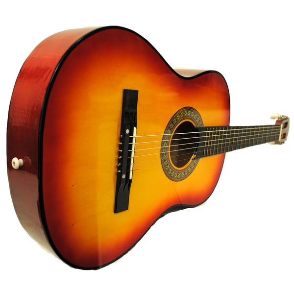 "38"" Starter Acoustic Guitar with Performer Package KIT Bag Tuner Pick - Sunburst"