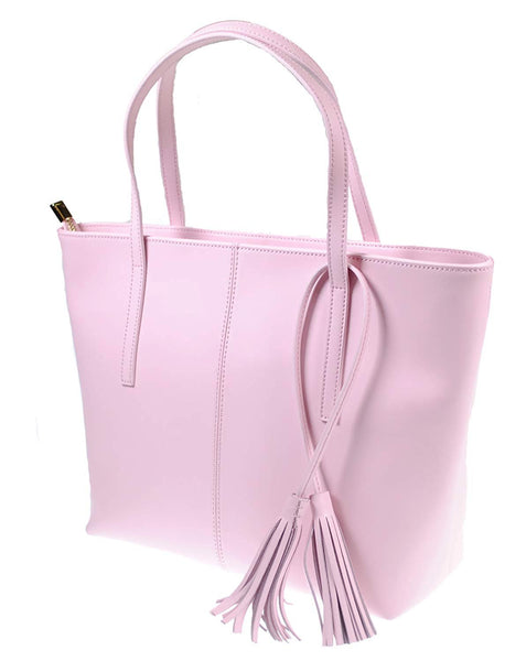 The Kyra Collection Womens Genuine Leather Satchel Purse Shoulder Bag - Pink