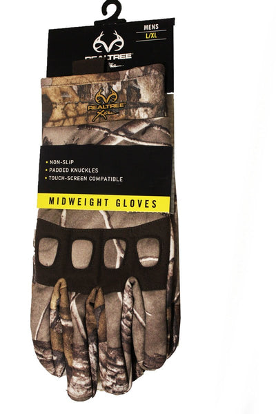 REALTREE XTRA MIDWEIGHT MEN'S GLOVES L/XL