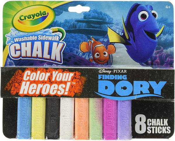 Crayola 8-Count Washable Sidewalk Chalk - Disney Pixar Finding Dory