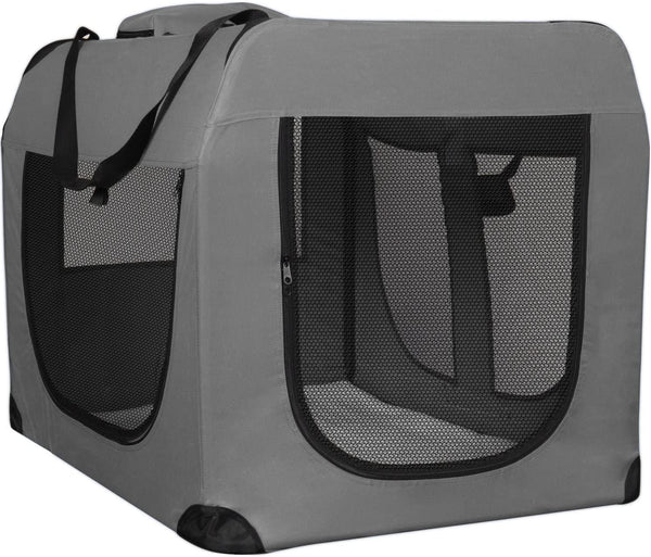 Paws & Pals OxGord Dog Crate Soft Sided Pet Carrier | Foldable Portable Soft Pet Crate Training Kennel | Great for Indoor or Outdoor