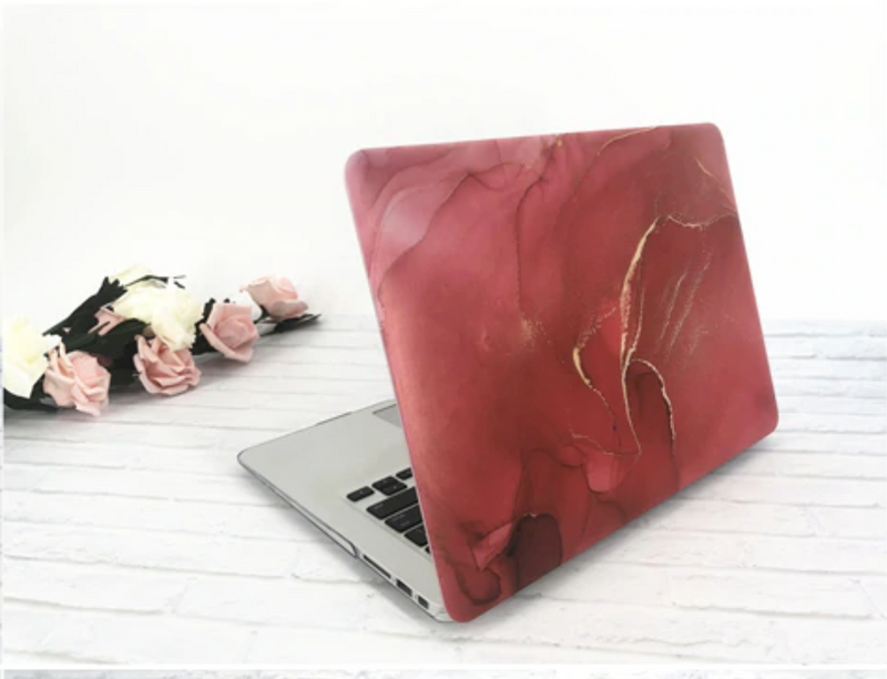 The Free Thinker Laptop Case in Poppy Watercolor