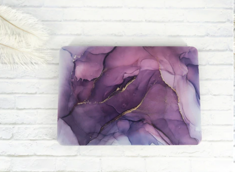 The Free Thinker Laptop Case in Amethyst Watercolor