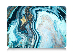 The Free Thinker Laptop Case in Watercolor Sea
