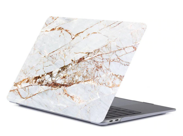 The Creative Type Laptop Cover in Gold Marble