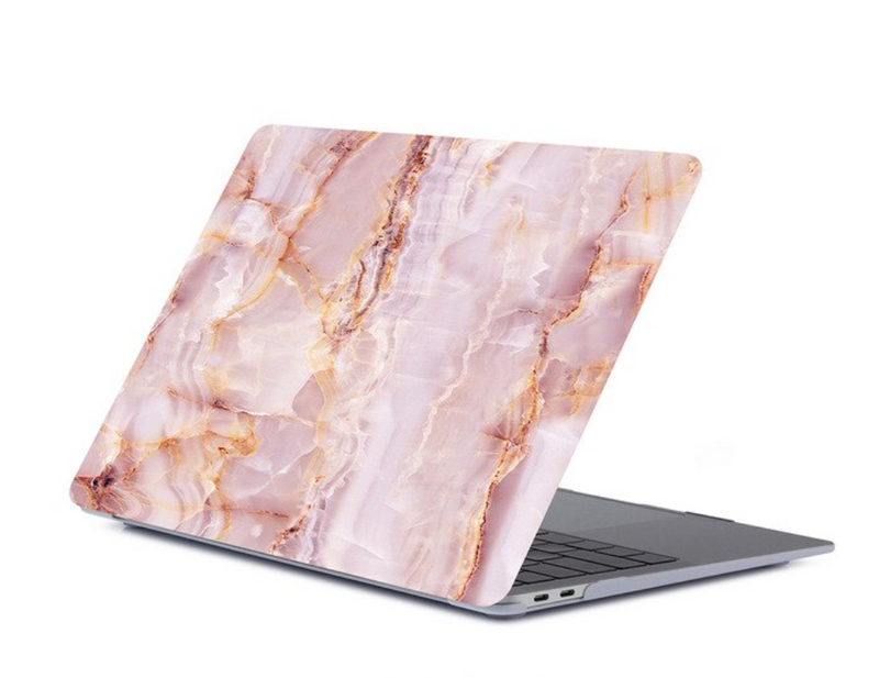 The Creative Type Laptop Cover in Rose Marble