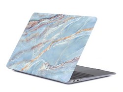 The Creative Type Laptop Cover in Ocean Marble