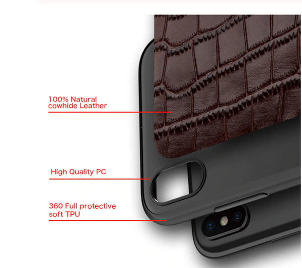 The Undercover Boss Leather Embossed Phone Case