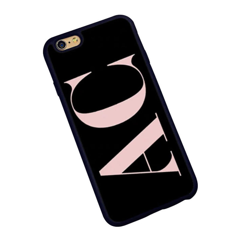 The Decision Maker Initials Phone Cover : Black