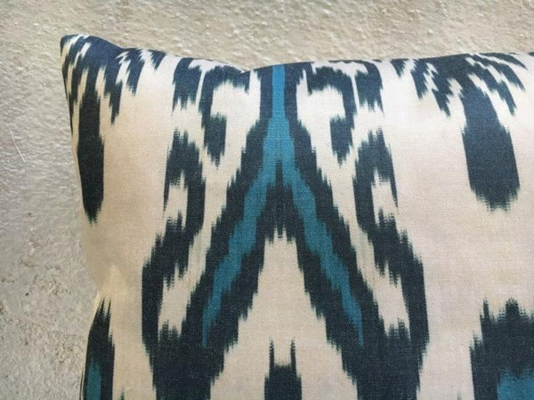 Silk Ikat Handwoven Pillow Cover 16x16