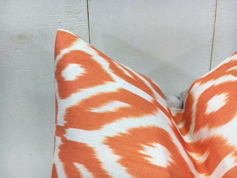 One-of-A-Kind Hand Dyed Silk Ikat Pillow Cover 16x16