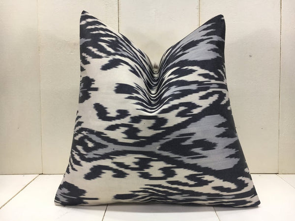 Handwoven Silk Ikat Pillow Cover 16x16