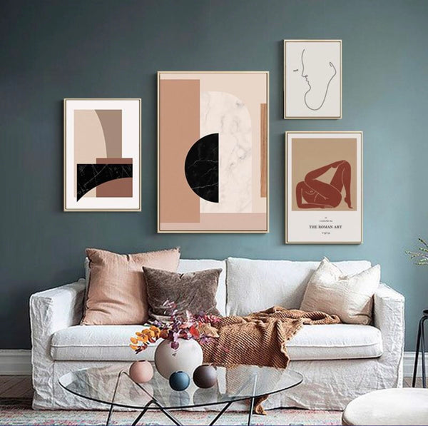 Buy The Wall!  Scandinavian Gallery Wall (Four Prints- Unframed)