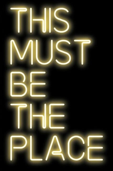 This Must Be The Place Glass Neon Sign