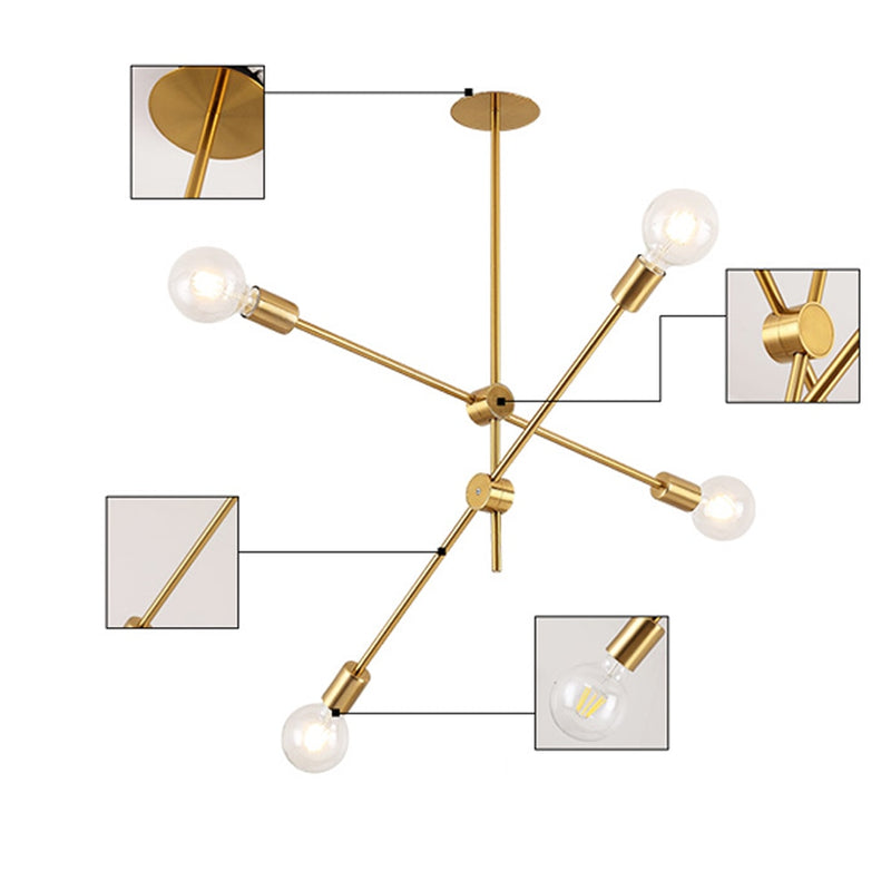 The CEO Office Chandelier (Multiple Sizes) : Gold