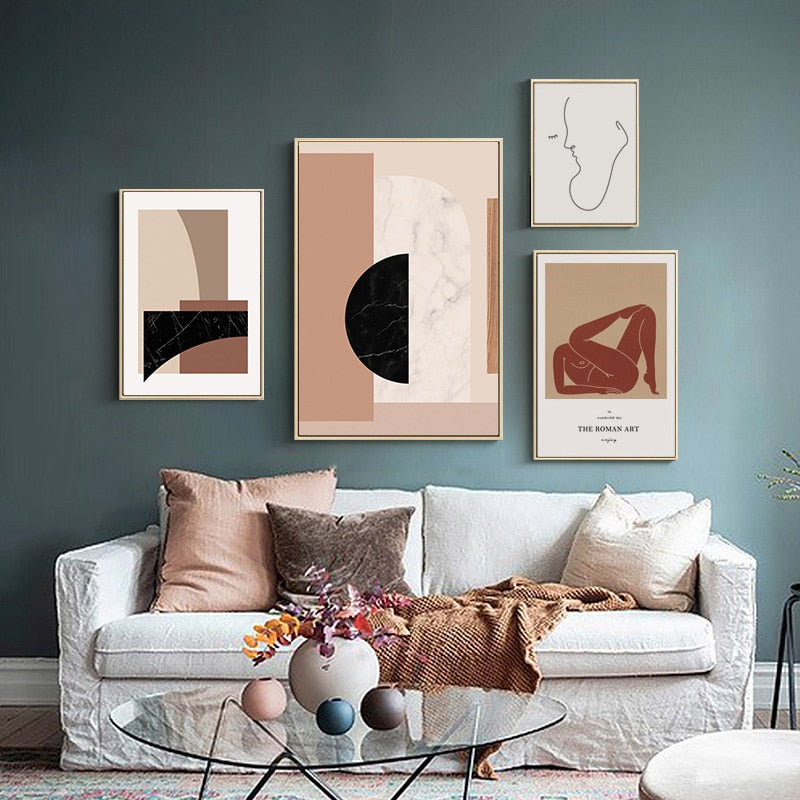 The Scandinavian Collection : Large Abstract 60x90cm (Unframed)