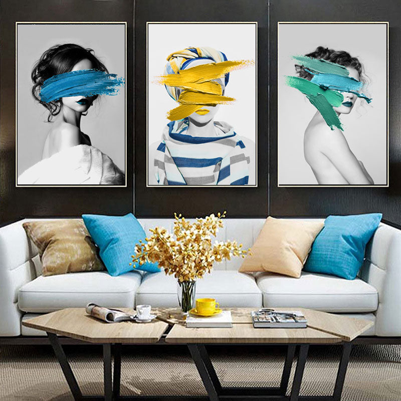 The Fashion Collection: Extra Large Blue Print  (Unframed)