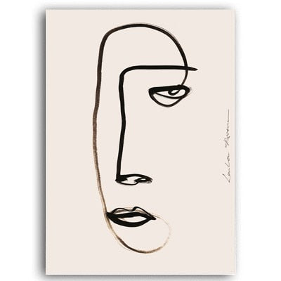The Parisian Collection: Abstract Face (Unframed)