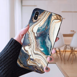 The Marbled Matriarch Phone Case in Ocean
