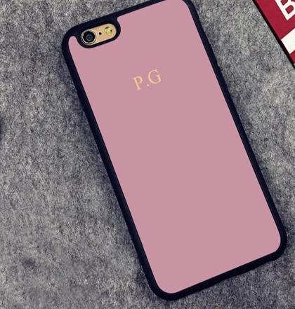 The Power Play Monogrammed Phone Case : Pink