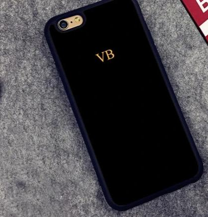 The Power Play Monogrammed Phone Case : Black