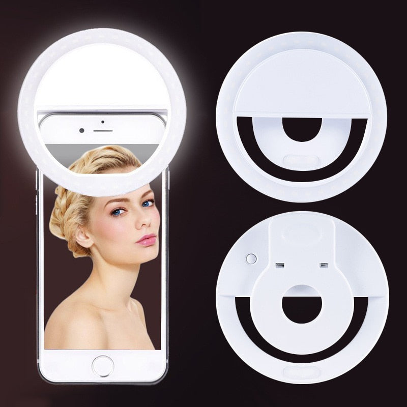Skin Smoothing Mini Camera Ring Light