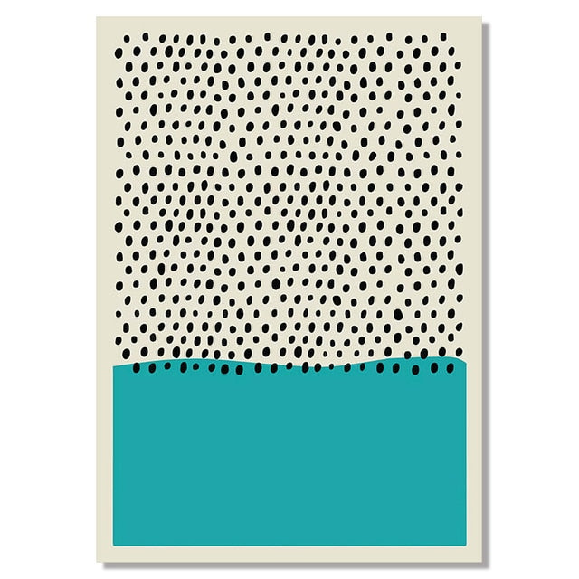 The NYC Museum Collection: Blue Dots 60x90cm (Unframed)