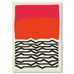 The NYC Museum Collection: Pink & Orange Lines 60x90cm (Unframed)