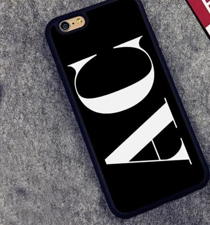 The Decision Maker Initials Phone Case : Black