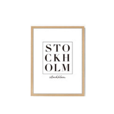 The Global Traveler Collection : Stockholm Type (Unframed)