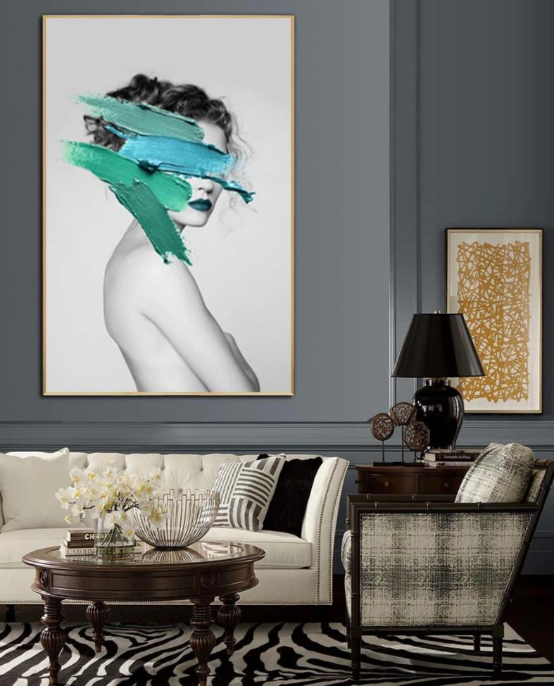 The Fashion Collection : Extra Large Green (Unframed)