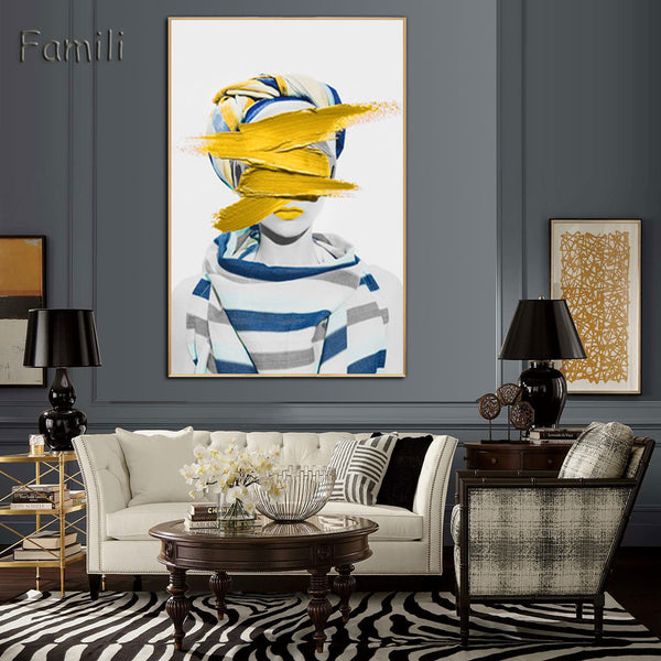 The Fashion Collection : Medium Yellow (Unframed)