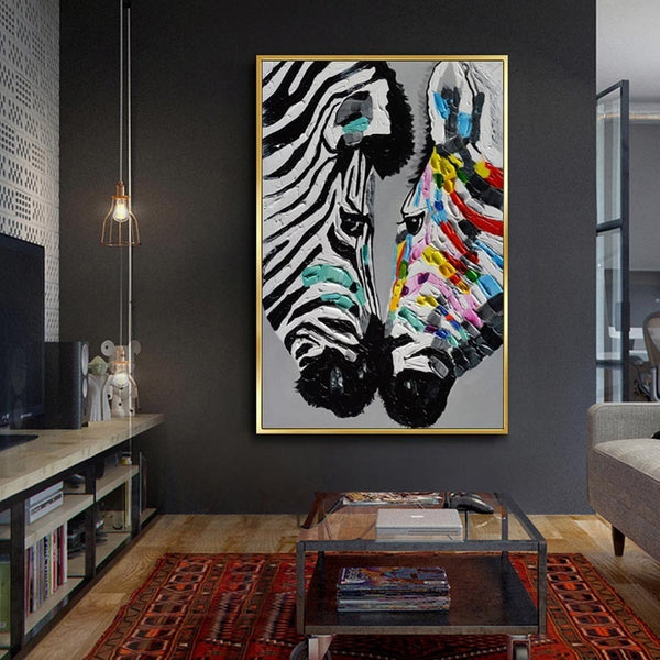 The Magnificent Safari Collection : Two Zebras Print (Unframed)