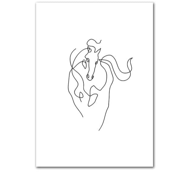 The Creative Director Collection: Horse Sketch (Unframed)