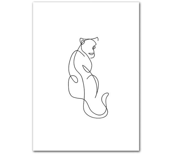 The Creative Director Collection: Cat Sketch (Unframed)